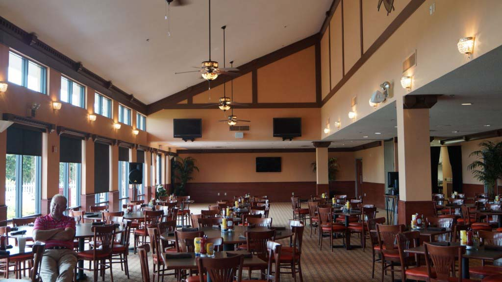 view inside Orange 83 Pub & Grill